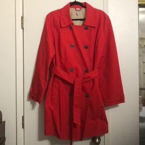 Red Rain Coat